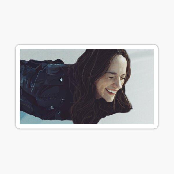 Wynonna Earp smiling  Sticker