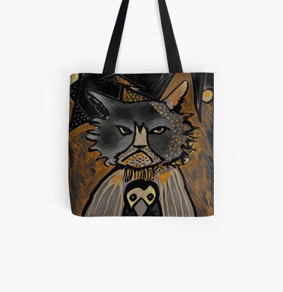 Mean Cat in Quarantine All Over Print Tote Bag