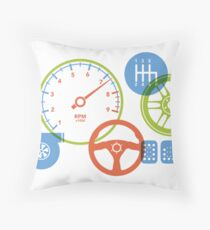 Car parts for kids who love cars Throw Pillow