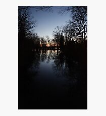 Tranquil Lake with Sunset Photographic Print