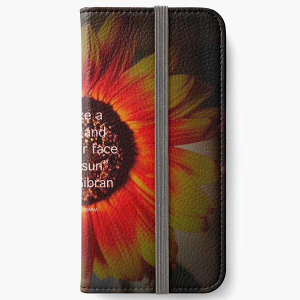 Be a sunflower By Yannis Lobaina iPhone Wallet