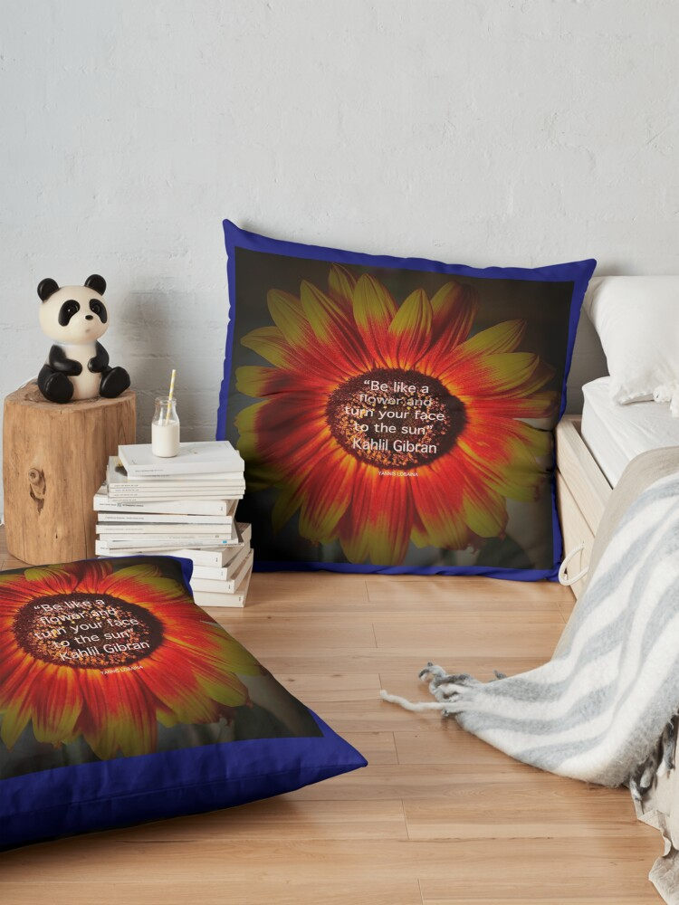 Alternate view of Be a sunflower By Yannis Lobaina Floor Pillow
