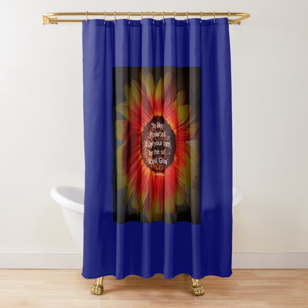 Be a sunflower By Yannis Lobaina Shower Curtain