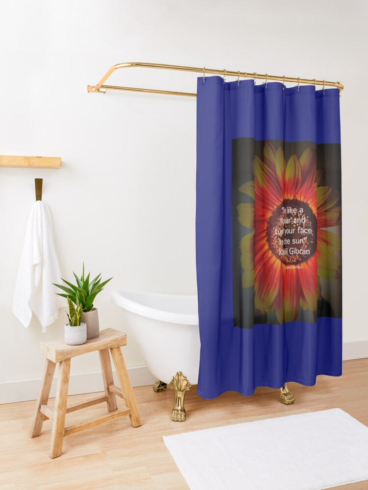 Alternate view of Be a sunflower By Yannis Lobaina Shower Curtain
