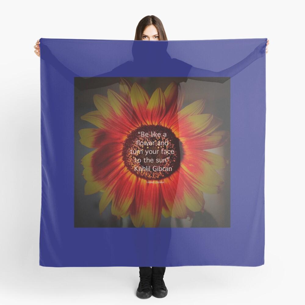 Be a sunflower By Yannis Lobaina Scarf