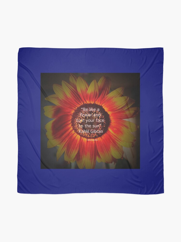 Alternate view of Be a sunflower By Yannis Lobaina Scarf