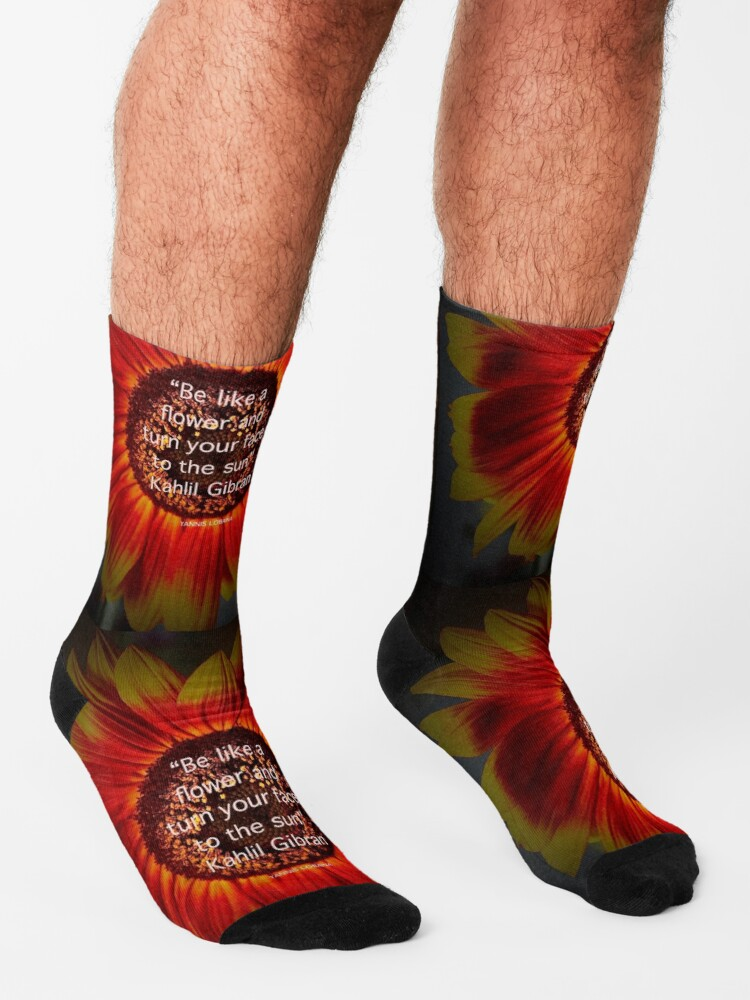 Alternate view of Be a sunflower By Yannis Lobaina Socks