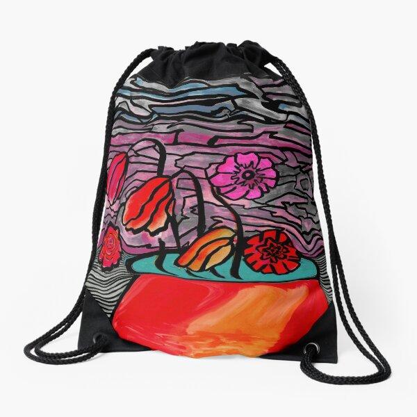 Flower Pot Quarantine 2020 Drawstring Bag