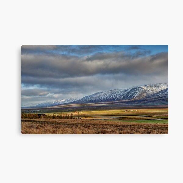 Icelandic Farmland Canvas Print
