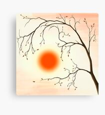 Cherry Tree in Fall art photo print Canvas Print