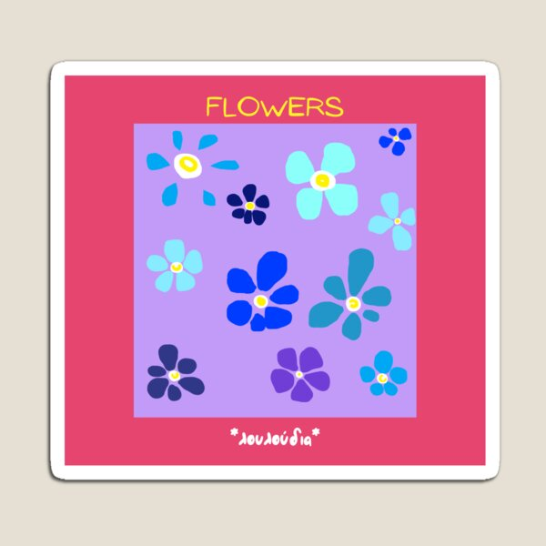 Flowers Abstract Magnet