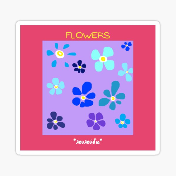 Flowers Abstract Sticker