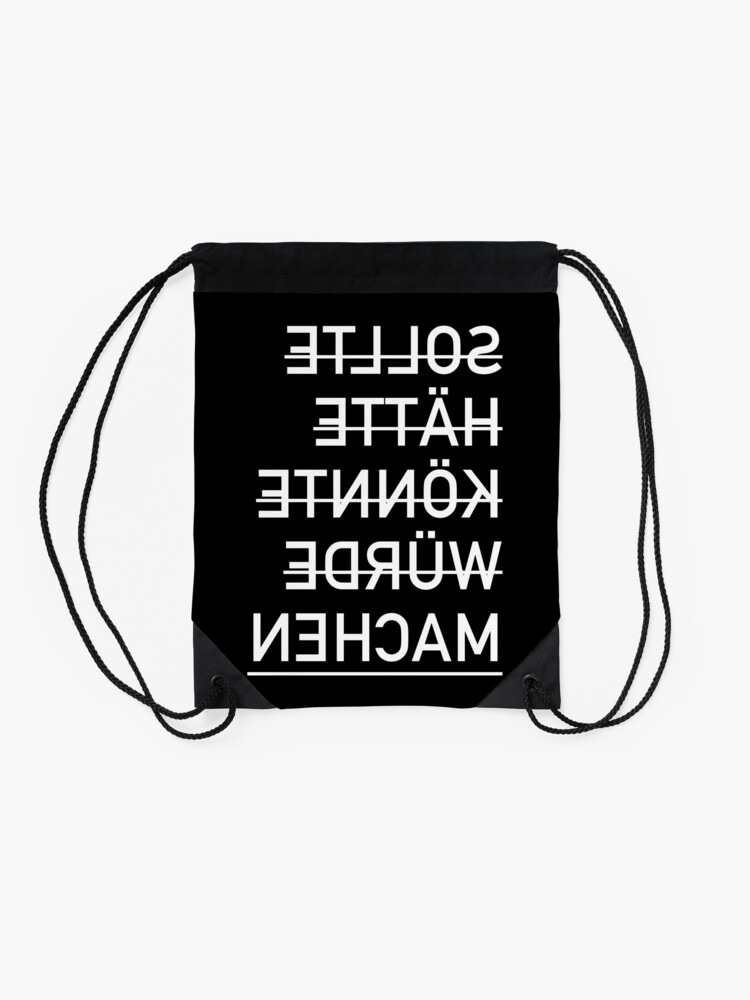 Alternate view of Should have could make funny sayings Drawstring Bag