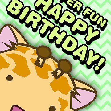 Fuzzballs Happy Birthday Giraffe by rabbitbunnies