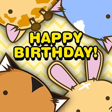 Fuzzballs Happy Birthday by rabbitbunnies