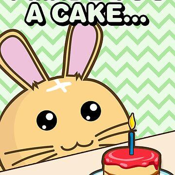 Fuzzballs I Made You A Cake Bunny by rabbitbunnies