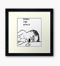 Drool For Peace Framed Print