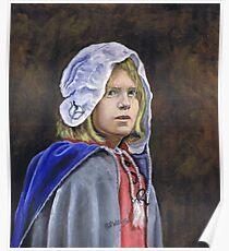 Girl in English civil war clothing Poster
