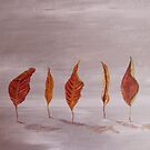 Red leaves by Linda Ridpath