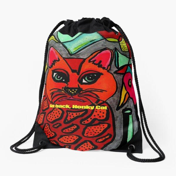 Get Back  Honky Cat and Bird Drawstring Bag