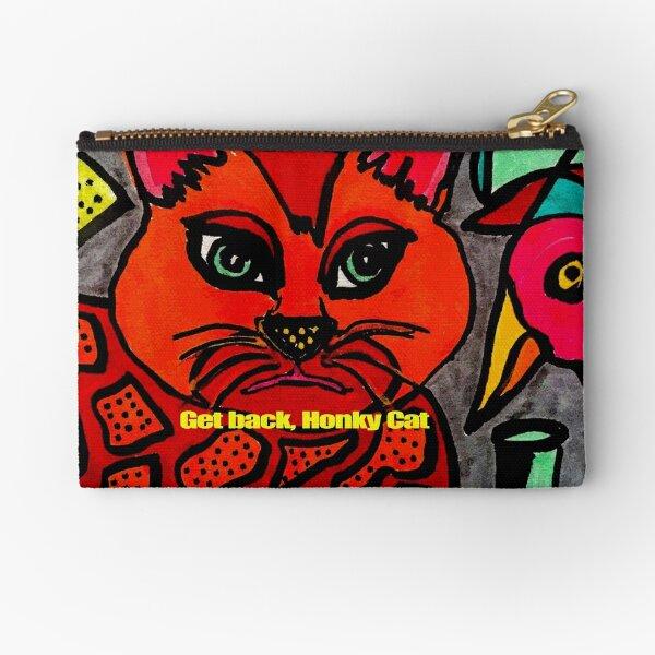 Get Back  Honky Cat and Bird Zipper Pouch
