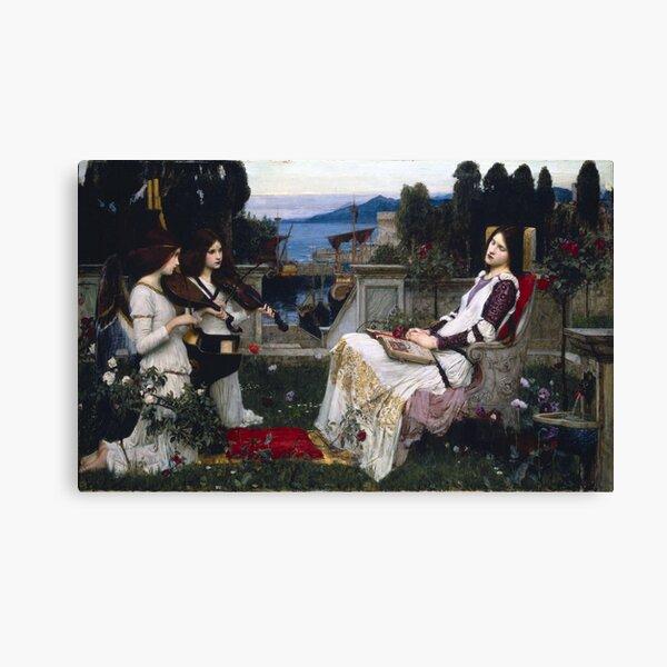 Saint Cecilia - John William Waterhouse - 1895 Canvas Print