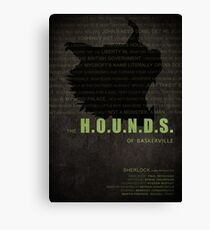 The Hounds of Baskerville fan poster Canvas Print