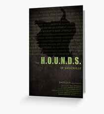The Hounds of Baskerville fan poster Greeting Card