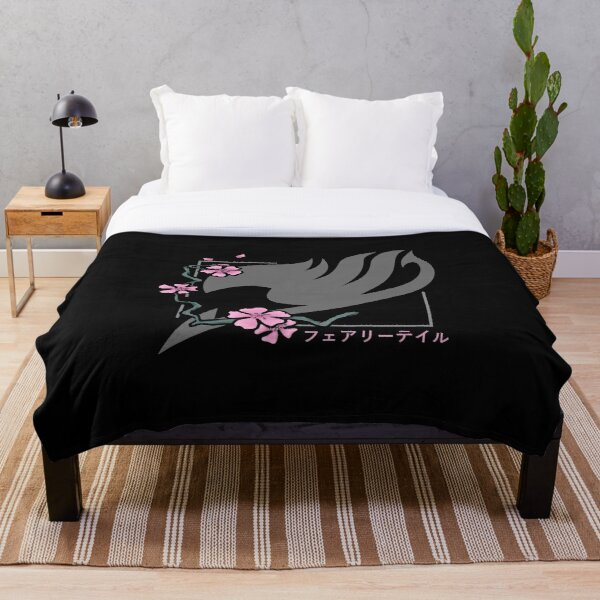 Fairy Tail Cherry Blossoms Throw Blanket