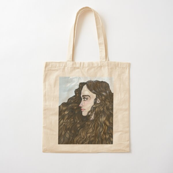Flowing curls Cotton Tote Bag