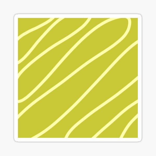 Simple Green Line Art Modern Minimalist Design Sticker