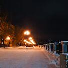The row of night lights by Eduard Isakov