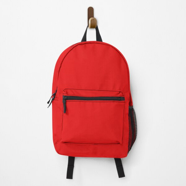 Solid Cherry Red Backpack