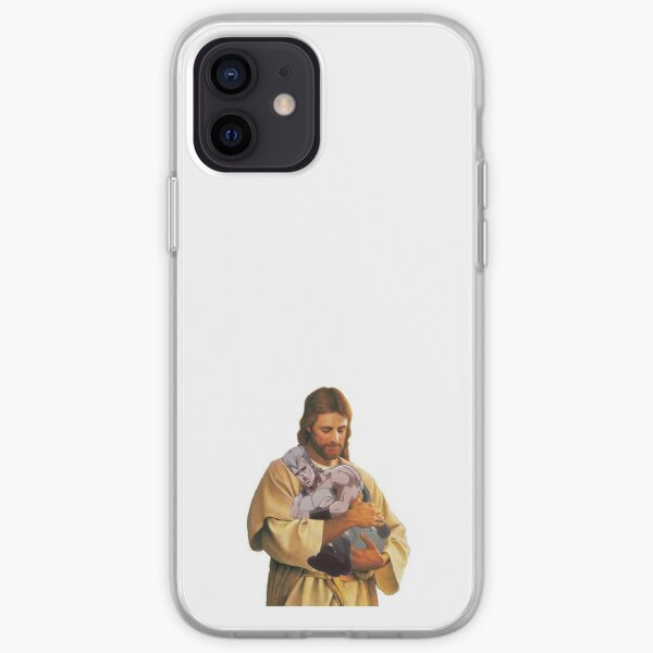 jésus tenant pol Coque souple iPhone