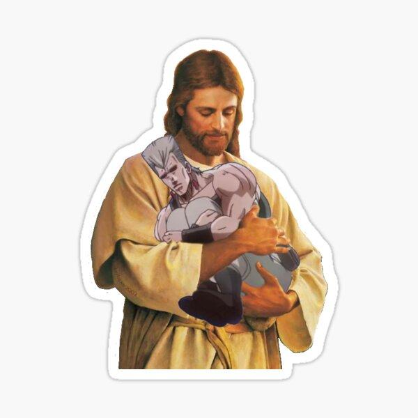 jesus holding pol Sticker