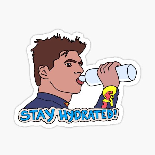 Max Verstappen- Stay Hydrated! Sticker