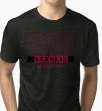 A Scandal in Belgravia fan poster Tri-blend T-Shirt