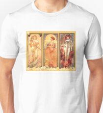 Alphonse Mucha: Art Nouveau Triptych T-Shirt