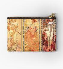 Alphonse Mucha: Art Nouveau Triptych Studio Pouch