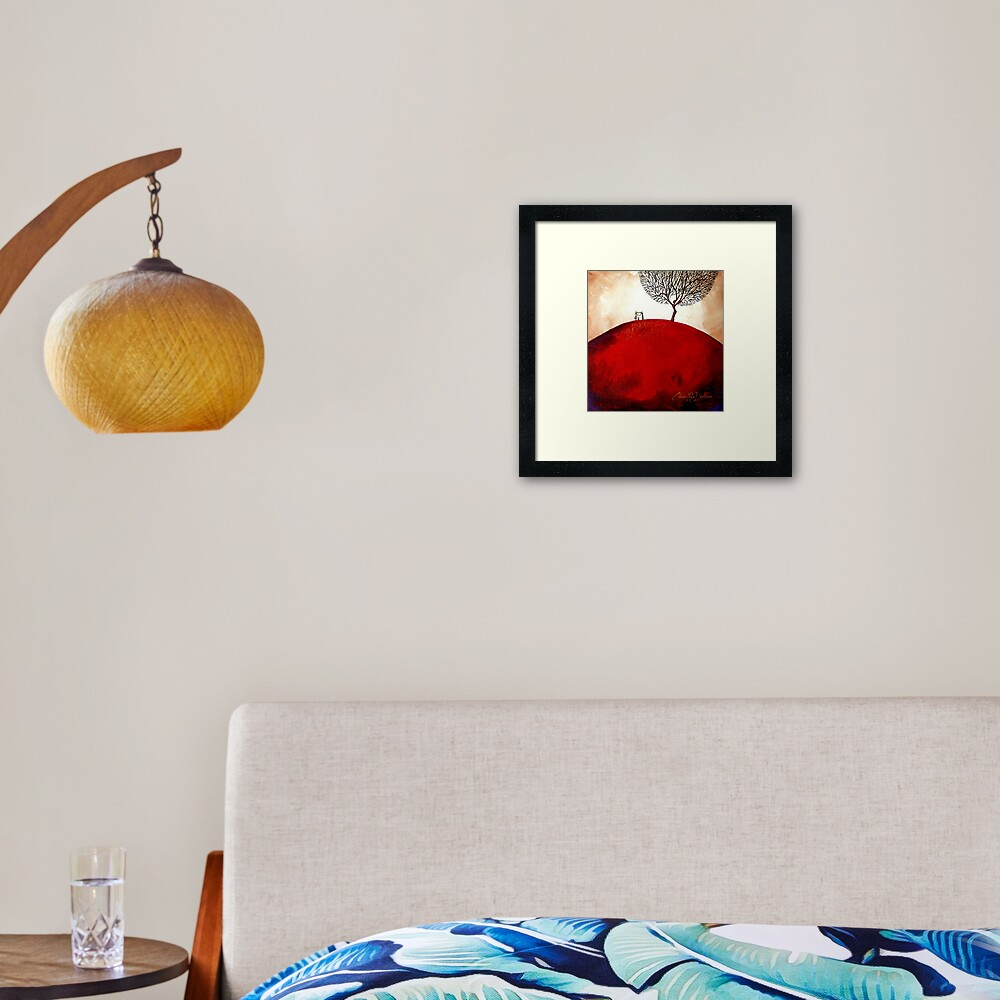 Heart-Shaped Love Framed Art Print