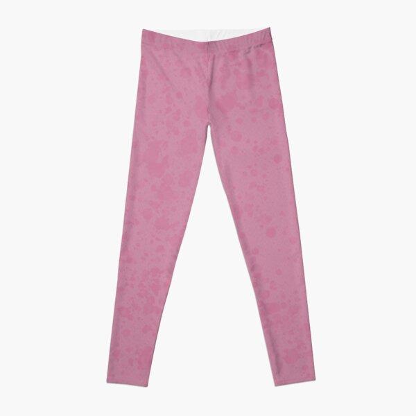 Pink Paint Spatter Design Leggings