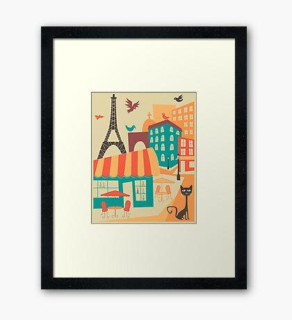 PARIS CAFE Framed Print