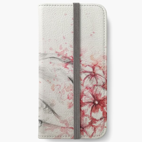Portrait with flowers iPhone Wallet