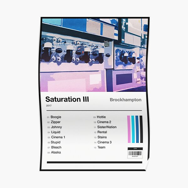 Saturation III Tracklist Poster