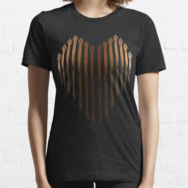 Raised Fist Heart, Black Power Essential T-Shirt