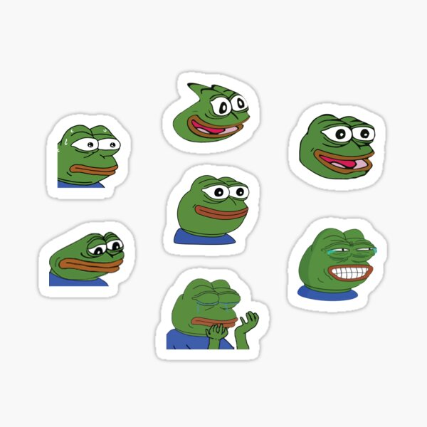 Pepe Twitch Emotes Pack 1 Sticker