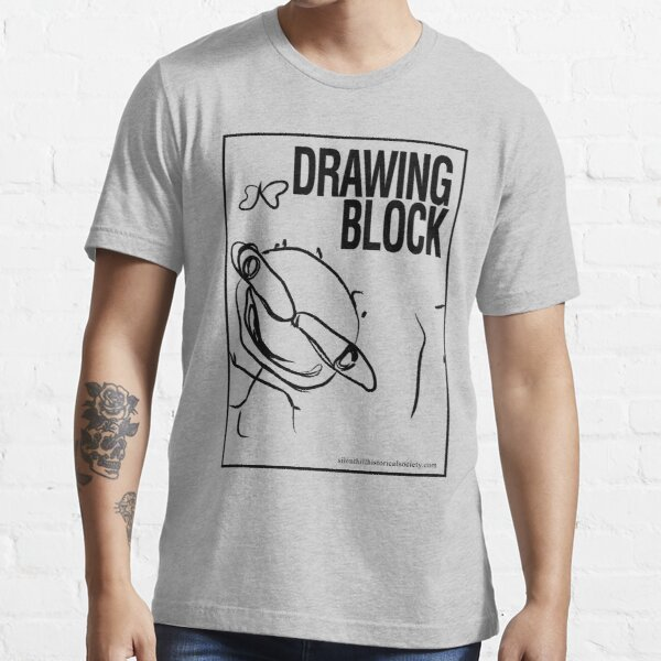 Cheryl's Drawing Block - Black Essential T-Shirt