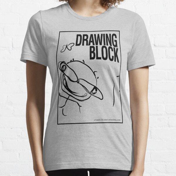 Cheryl's Drawing Block - Black Essential T-Shirt