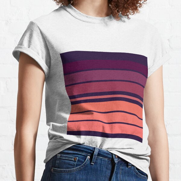 Pink World Stripes  Classic T-Shirt