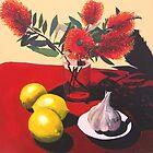 Garlic, Lemon and Bottlebrush. by Andrew  Pearson